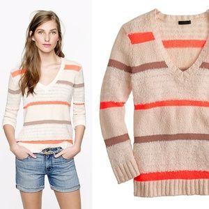🐤J.Crew Collection    Textured Stripe Sweater